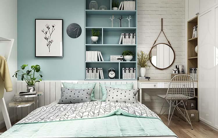 Phòng ngủ nên sử dụng gương phù hợp
